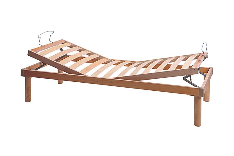 Rete materasso in legno anatomica alzatesta e piedi