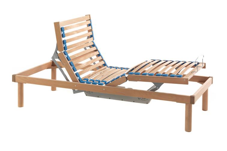 Rete in legno elettrica materasso singolo